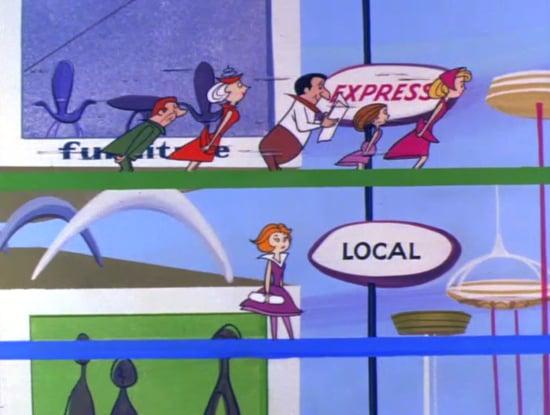 Cintas transportadoras en las caricaturas de los supersonicos