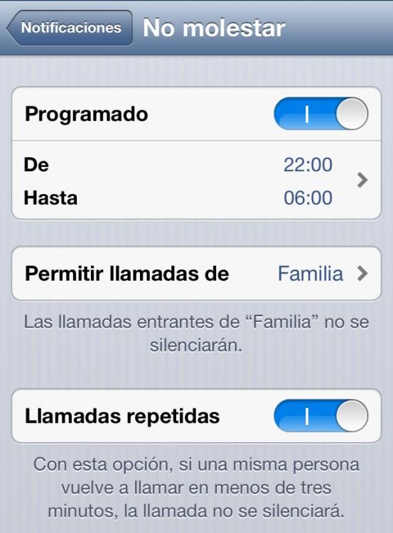 Opción no molestar para tu iPhone