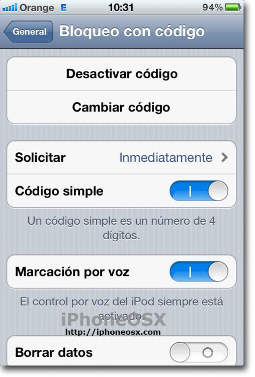 Trucos para iPhone para bloquear con código