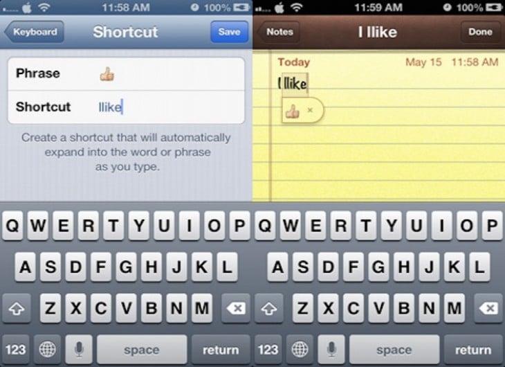 Trucos para crear emojis de como accesos directos