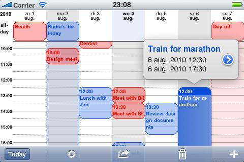 Calendario más detallado en tu iPhone