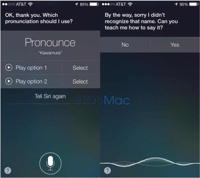 captura de pantalla para que enseñes a hablar a Siri