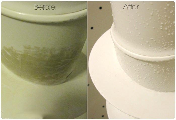 Antes y después de limpiar la lavadora