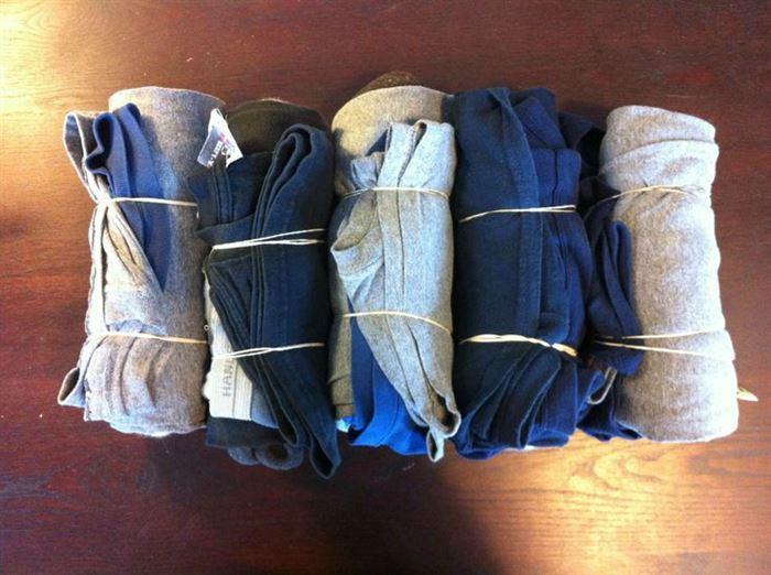 Usos para las bandas de goma para empacar ropa interior para ahorrar espacio