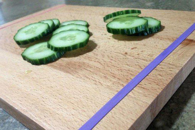Bandas de goma para evitar que la tabla de picar se deslice