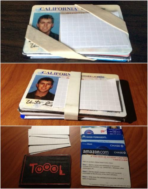 Bandas de goma para mantener tus tarjetas juntas