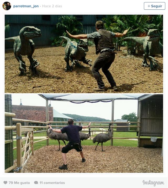 Hombre que trabaja para un zoológico recrea la foto de jurassic world