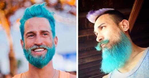 Tendencia de cabello de la sirena en la que los hombres tiñen su cabello de colores muy vivos