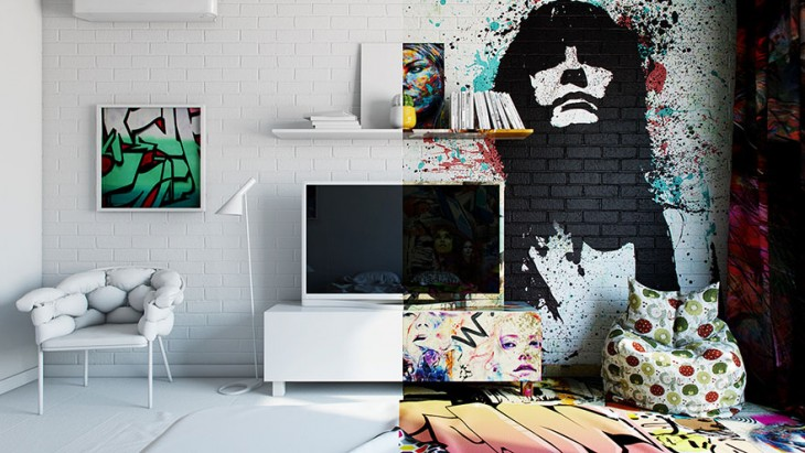 pavel veltrov habitacion contraste de frente a la cama