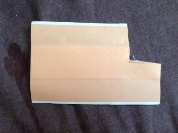 Banda para cortadas sin un trozo de lado derecho
