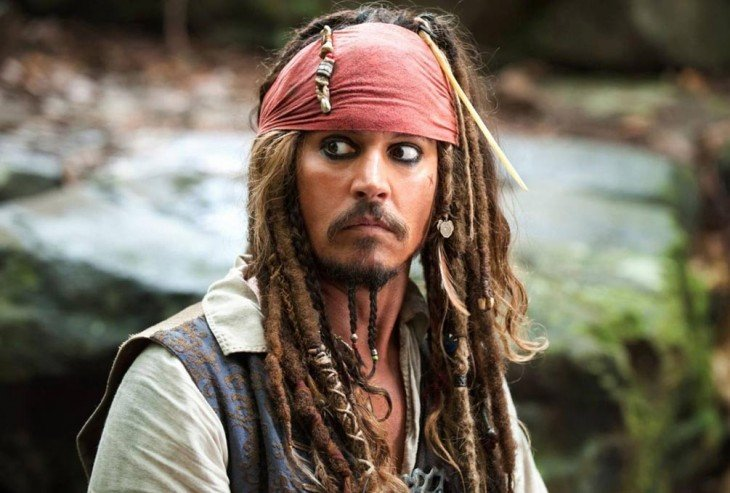 Johnny Depp – Piratas del Caribe I-IV