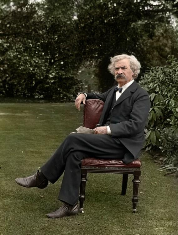 Mark Twain, autor. 1924