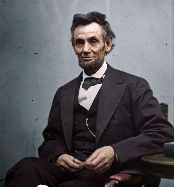 Abraham Lincoln, presidente de Estados Unidos 1865