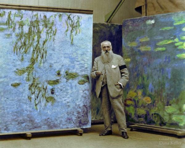 Claude Monet, Pintor impresionista. 1923