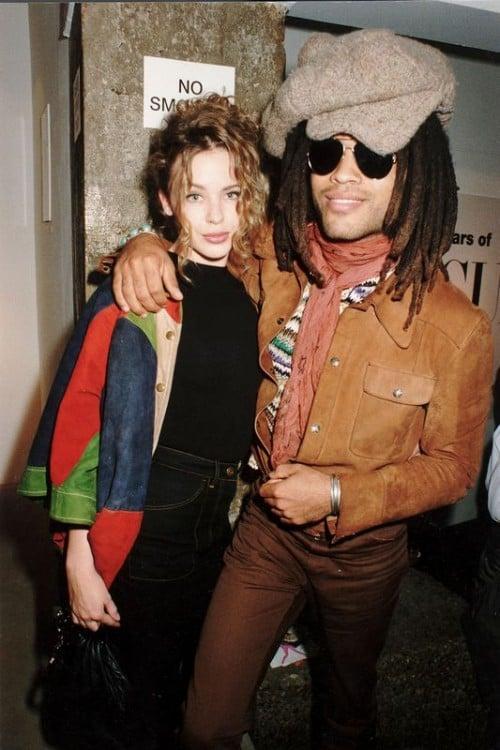 Kylie Minogue y Lenny Kravitz