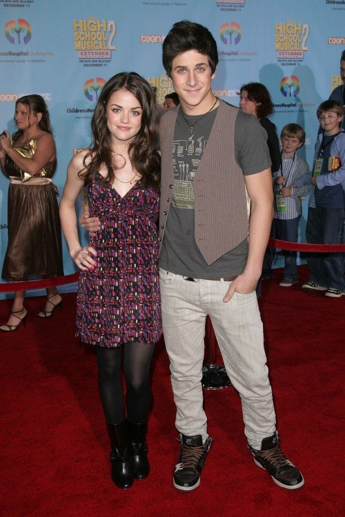Lucy Hale and David Henrie