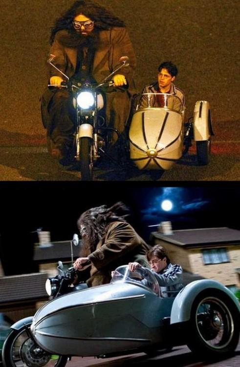 Daniel Radcliffe & Robbie Coltrane