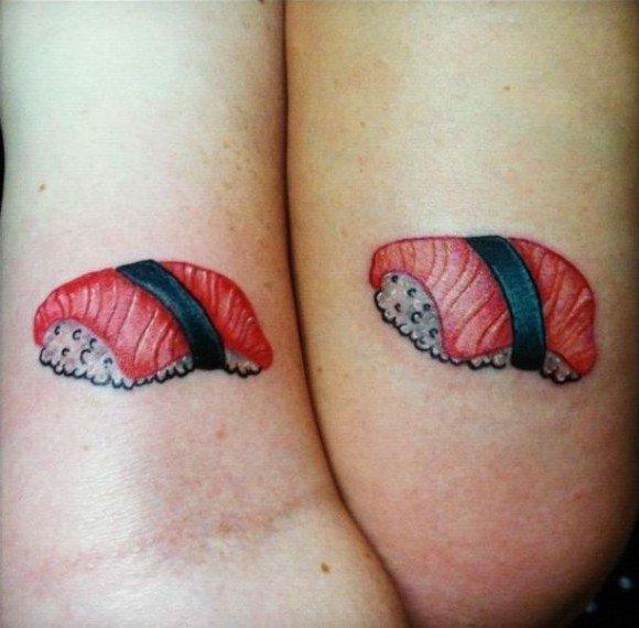 tatuaje de sushi para parejas