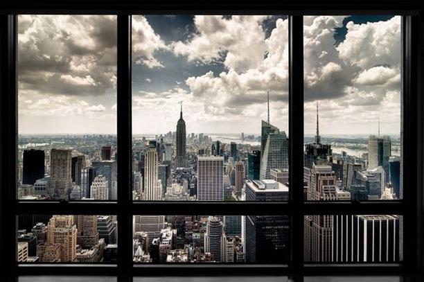 poster en forma de ventana