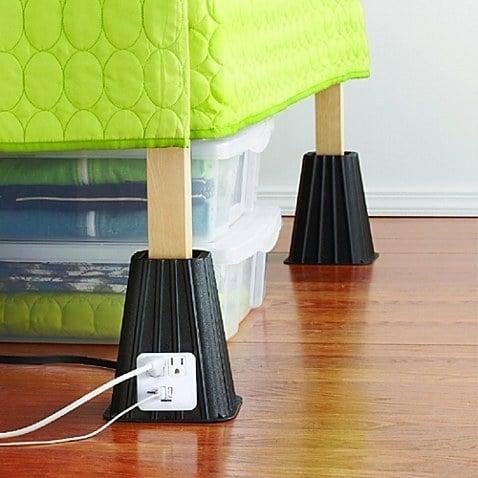 patas para cama con conectores usba y electricidad