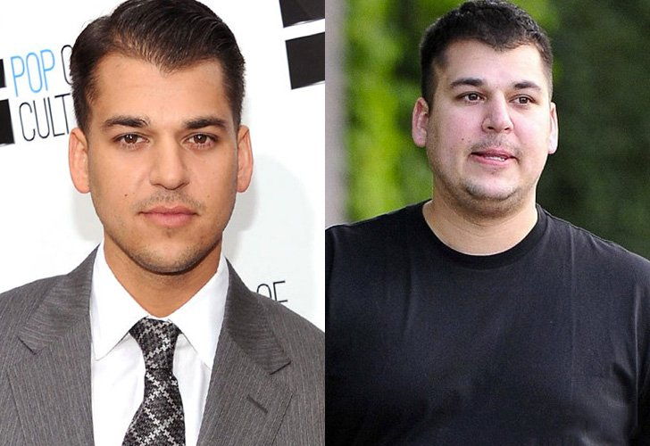 Rob Kardashian antes y despues