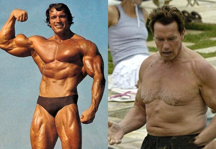 Arnold Schwarzenegger gordo y flaco