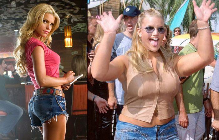 Jessica Simpson antes yu despues de la obesidad