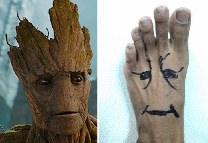 Cosplay de bajo costo de Groot - Guardianes de la galaxia