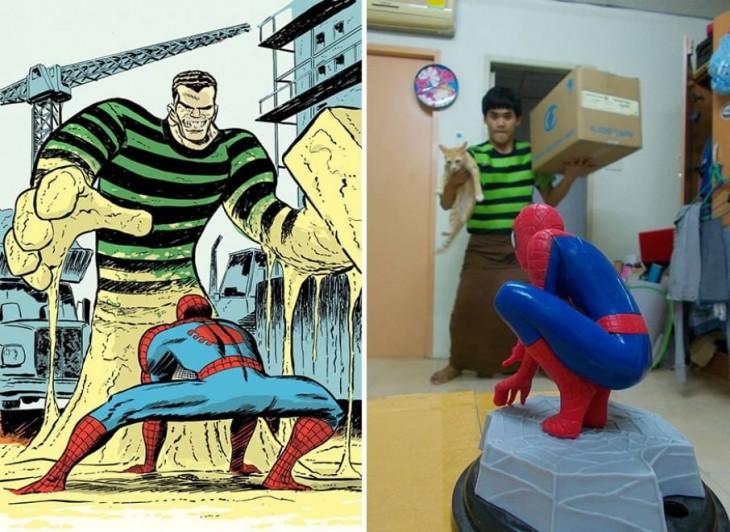 Spiderman y Sandman
