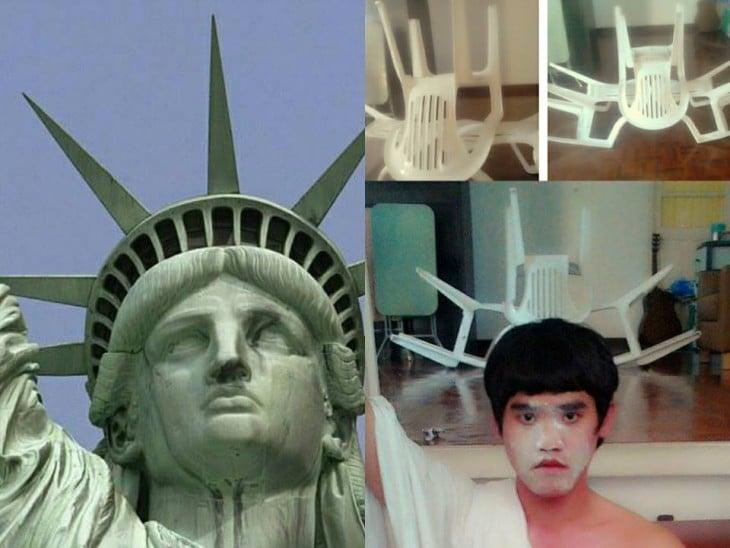 Cosplay de la Estatua de la libertad