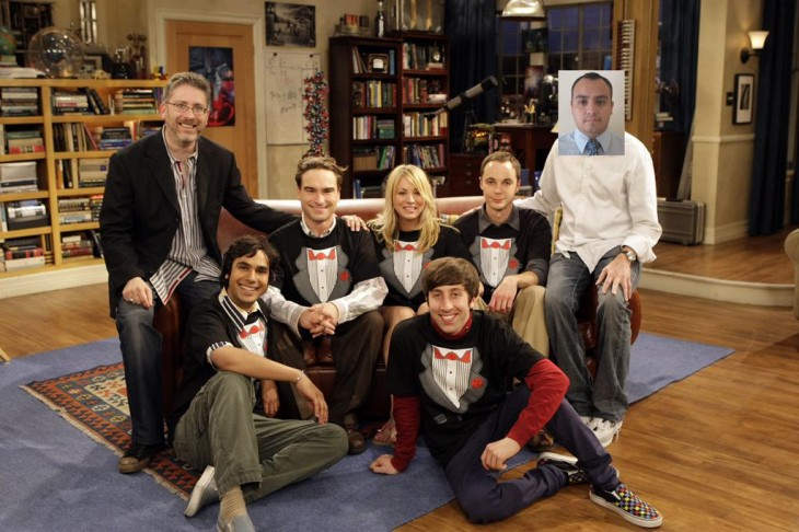 photoshop con el cast de the big bang theory