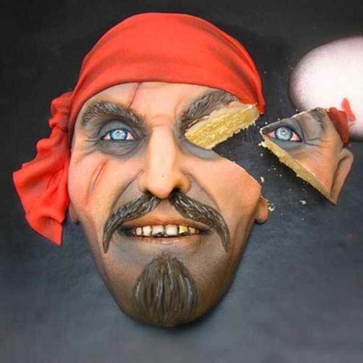 pastel en forma de pirata