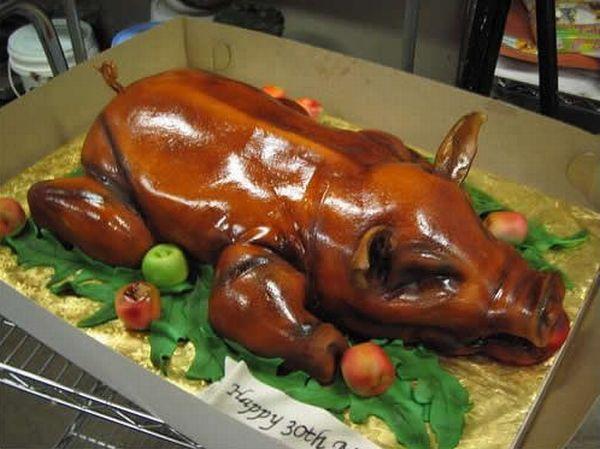 pastel en forma de cochinita pibil