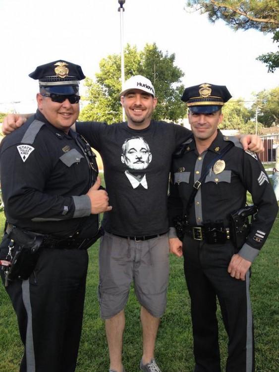 foto que se toman con los policias