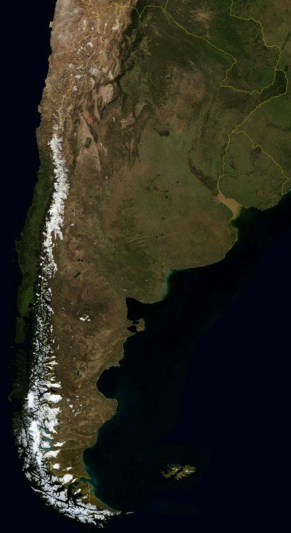 Imagen Satelital de Argentina