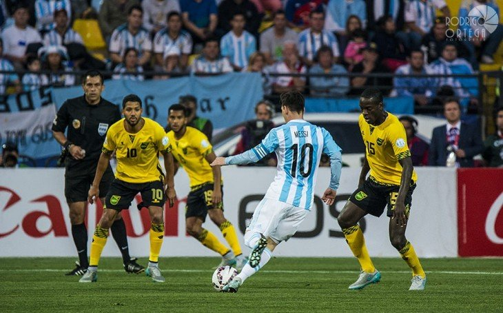 Argentina vs Jamaica Copa América Chile 2015, Estadio Sausalito, Viña del Mar, Chile