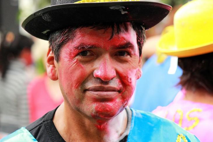 Celebración del Rostros de Carnaval en la región noroeste andina, Argentina