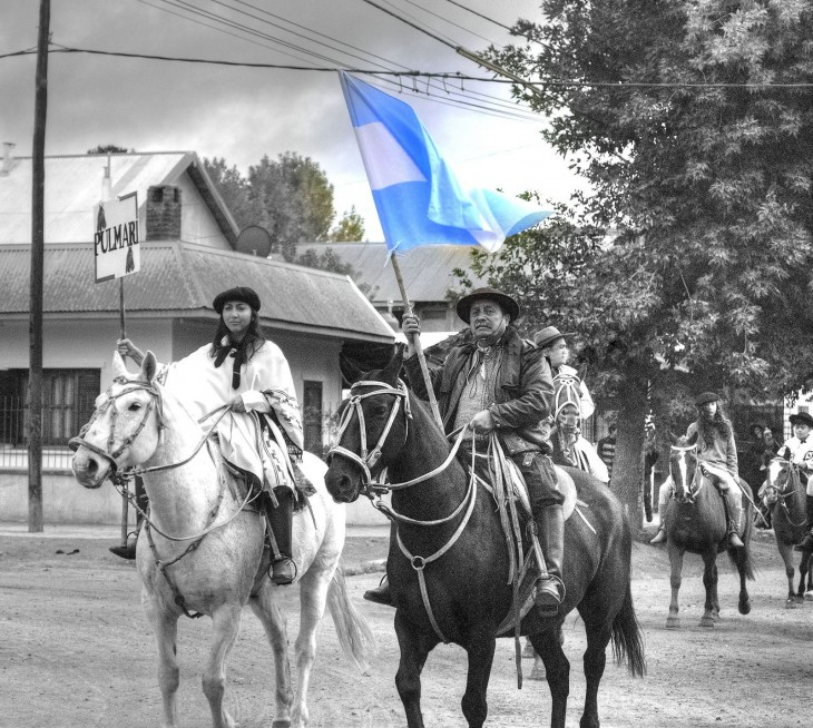 "Desfile tradicional ""Fiesta Nacional del Pehuen"" en Alumine Neuquen, Argentina"