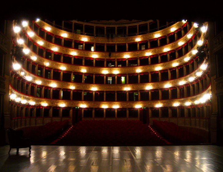 Interior del Teatro Roma en la Ciudad de Avellaneda, Argentina