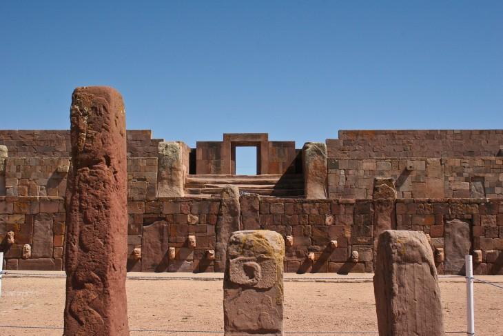 Ruínas arqueológicas de Tiwanaku declarado Patrimonio Cultural de la Humanidad por la UNESCO