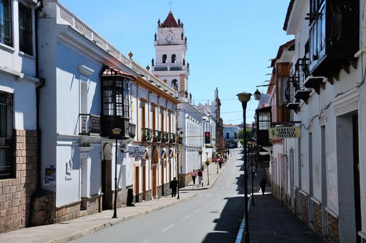 Ciudad histórica Sucre en Bolivia