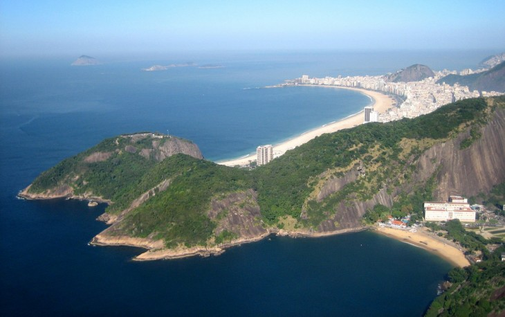 Copacabana en Río de Janeiro, Brasil