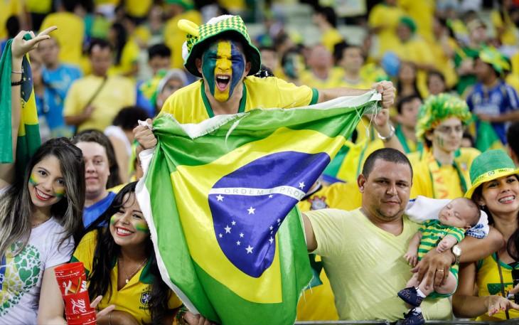 Aficionados de la selección de Brasil durante un juego de su equipo