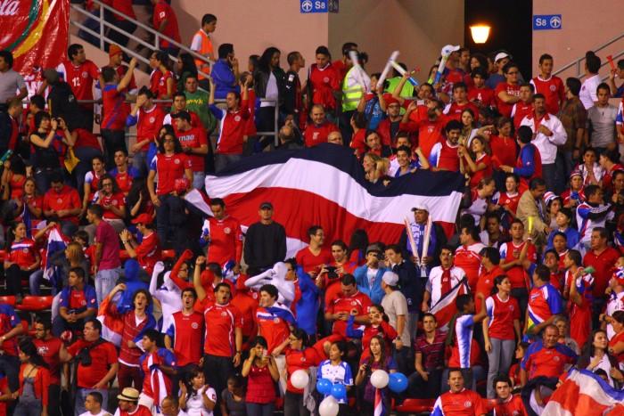 Aficionados de la selección de Costa Rica