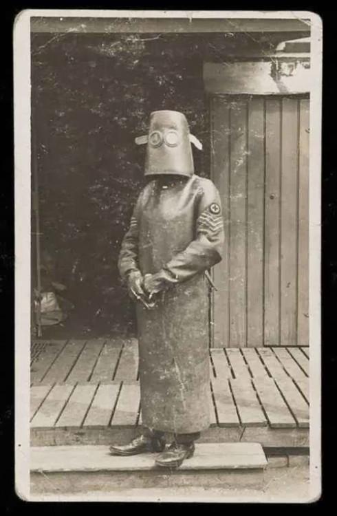 Técnico en radiología en la Primera Guerra Mundial. Francia, 1918