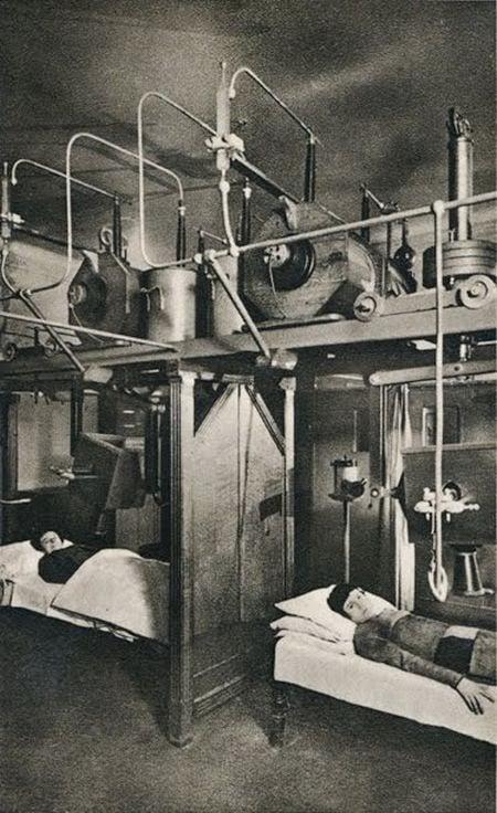 Pacientes de radioteriapio principios del siglo XX