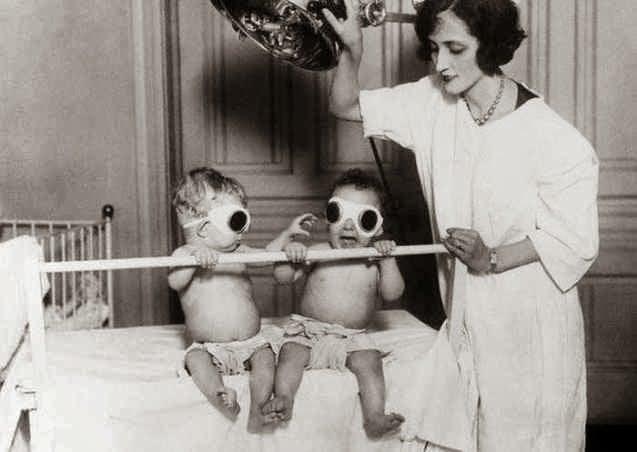 Radiación de bebés en un orfanato de Chicago en 1925, para combatir el raquitismo en invierno