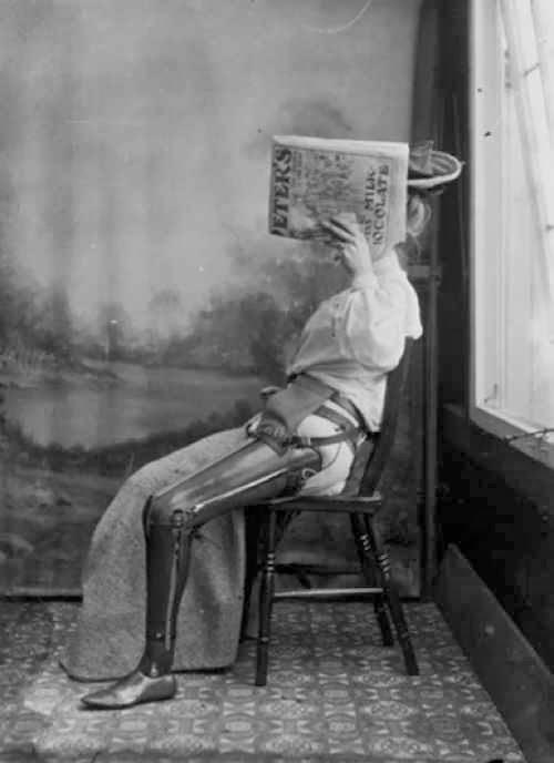 Protesis de una pierna en 1890