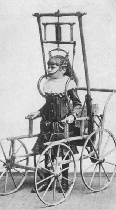 Anuncio publicitario del aparato para corregir problemas de la espalda del Dr. Clark, 1878  Read more: http://www.husmeandoporlared.com/2014/02/antiguos-tratamientos-medicos