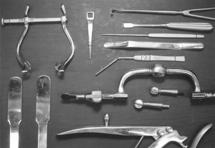 Instrumentos utilizados en las lobotomías